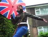 Jubilee 'fun in the rain'